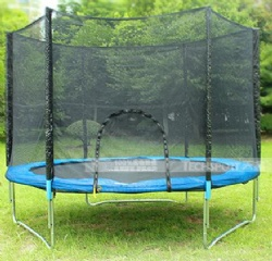 Wholesale professional 16 feet outdoor trampoline for adult with outside safety net
